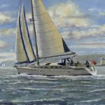 Art Commissions – Yacht Rebel Sailing Off Cowes Isle Of Wight