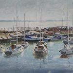 Boats – Winter Light Titchfield Haven – Art Prints and Painting For Sale