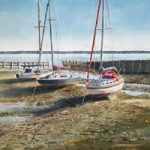 Low Water, Titchfield Haven Painting