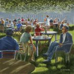 Cafe Hampton Court Flower Show Art Prints