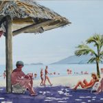 Caribbean Beach Painting – Art Prints