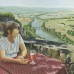Girl in a Café, Dordogne Valley France – Art Gallery