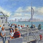Gosport Ferry – Portsmouth Hampshire – Painting by Surrey Artist David Whitson