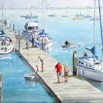 Hardway Sailing Club Painting – Portsmouth Hampshire Art Gallery – David Whitson