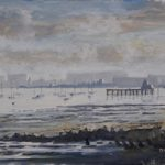 Low Water at Hardway, Portsmouth Harbour – Art Prints