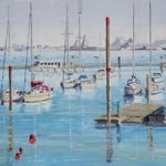 Moored Boats – Forton Lake Gosport Hampshire Art Prints