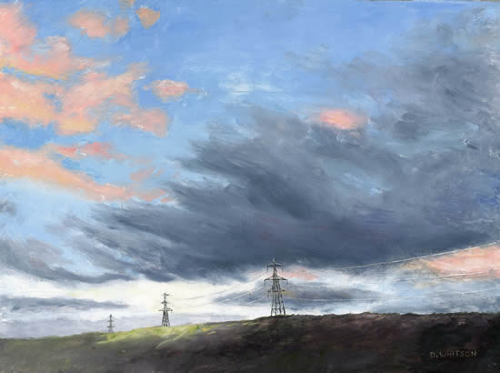 Norfolk Sky - Painting and Art Prints