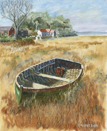 Old Boat at Pin Mill, Suffolk - Art Prints For Sale