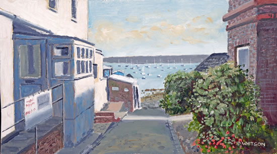 Old Hardway Lane Towards The Harbour - Art Prints and Painting For Sale