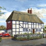 Old Cottage With Red Ferrari – Commissoned Painting – Gosport Hampshire Artist