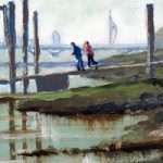 Pontoon at Hardway Portsmouth – Art Prints and Oil Painting For Sale