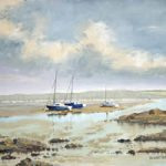 Portsmouth Harbour Looking North From Hardway Hampshire – Art Prints and Oil Painting