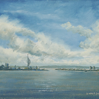 Portsmouth from Porchester Castle – Art Prints and Painting