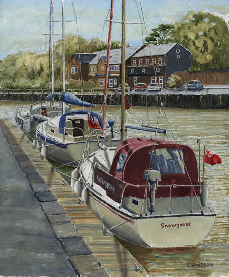 Quay at Newport, Isle Of Wight - Oil Painting and Art Prints