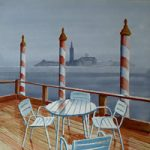 Table and Chairs – Rain in Venice – Art Prints