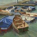 Small Boats Art Gallery – Painting by David Whitson Gosport Artist
