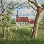 St Marys Church, Byfleet Surrey – Painting and Art Prints