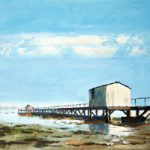 Sultans Jetty Hardway Gosport – High Summer – Art Prints and Painting For Sale