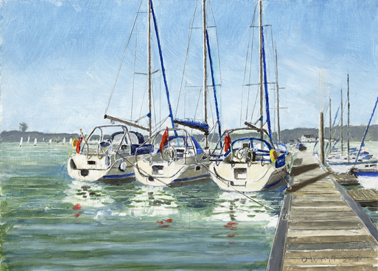 Three Legend Yachts, Bembridge Harbour, Isle Of Wight - Art Prints