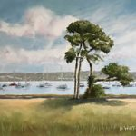 Portsmouth Harbour View With Trees
