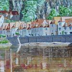 Village on the Dordogne River France