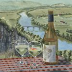 Vin de Pays France Vineyards and Wine – Painting and Art Prints