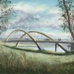 Walton on Thames Surrey Bridge – Painting and Art Prints
